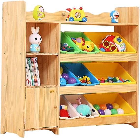 Muebles Estantería de madera de juguete para niños Estante de ...