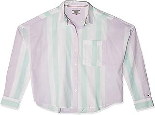 تومي جينز تي شيرت للنساء -  لون متعدد الالوان -  مقاس XL