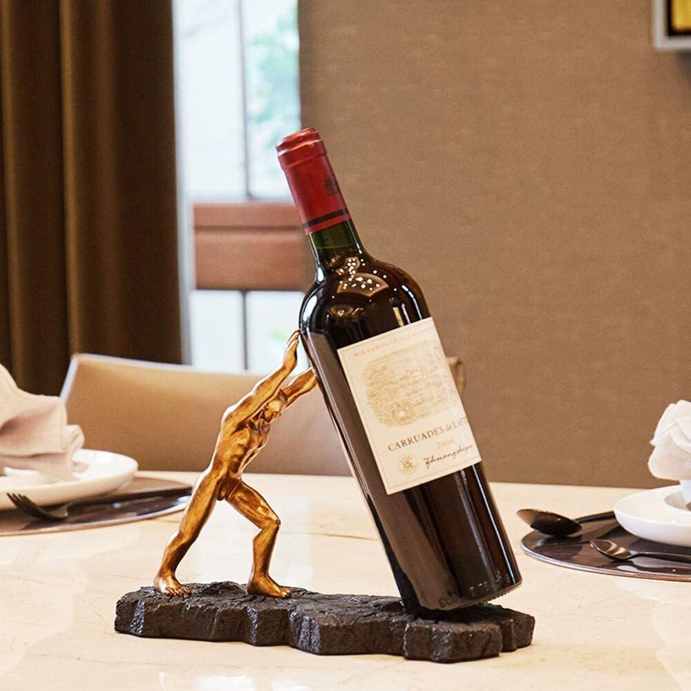 Giltern Spring Max 51% OFF new work one after another Personality Hercules Resin Creative Racks Holder Wine Fr