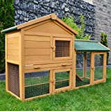 Zooprimus zooprinz Kaninchenstall 01 Hasenkäfig - HASENVILLA - Stall für Außenbereich (für Kleintiere: Hasen, Kaninchen usw)