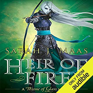 Heir of Fire     Throne of Glass, Book 3              Written by:                                                                                                                                 Sarah J. Maas                               Narrated by:                                                                                                                                 Elizabeth Evans                      Length: 20 hrs and 40 mins     91 ratings     Overall 4.7
