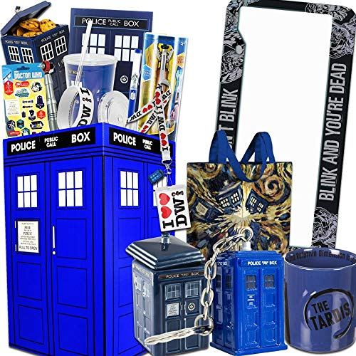 Doctor Who LookSee Gift Box The Perfect gift for Dr Who fans - Comes with Sonic Screwdriver, License Plate, Tardis Cookie Jar, Mug, & More!