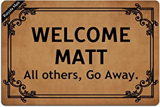 Ruiyida Welcome Matt All Others, Go Away. Entrance Floor Mat Funny Doormat Door Mat Decorative Indoor Outdoor Doormat Non-...
