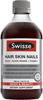 Swisse Hair Skin Nails Liquid Supplement | Premium Body & Beauty, Supports Collagen Production | High in Vitamin C & Silic...