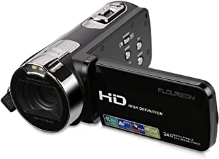 Floureon HD 1080p Digital Video Camera with Dv 3.0 Tft LCD Screen, 16x Zoom and 270 Degrees Rotation (Black)