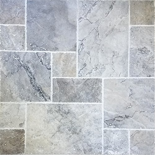 Sample Travertine Tile Versailles Pattern Silver Pool Patio Backyard Brushed And Chiseled Natural Stone For Outdoors Indoors Buy Online In United Arab Emirates At Desertcart Ae Productid 47844943