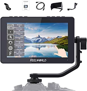 "FEELWORLD F5 Pro V2 5.5"" Full HD 1920 x 1080 IPS Pantalla táctil Monitor de Campo, soporta Entrada y Salida HDMI 4K y Fuen..."