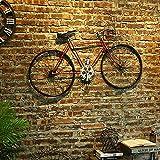 WRUJ Decoración De Pared De Bicicleta De Estilo Industrial, Nostalgic-Art, Arte De Bicicleta Montado En La Pared, Decoración De Metal Divertida para Colgar, para Salón/Dormitorio/Restaurante