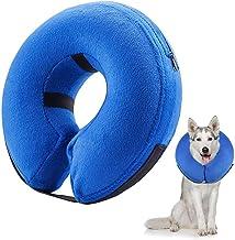 Frifer Collar Hinchable de recuperación de petaca de protección Ajustable Cono de cicatrización Confortable para Perro y Gato, M (COU: 25-33cm / 9.9-12.9in)