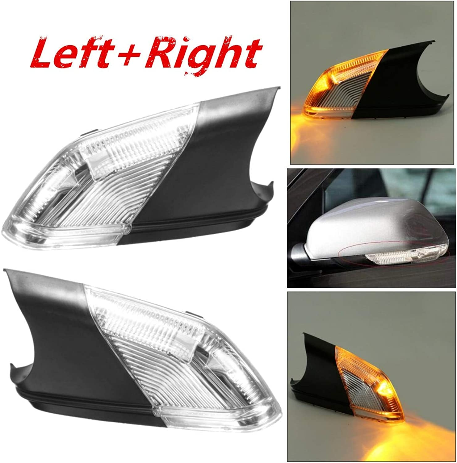 Gift4Car  Left+Right Side Wing Car Styling Rearview Mirror Turn Signal Light Indicator Led Lamps Bar Lighting for 0509 for VW Polo mk4 FL