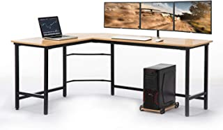 AuAg Modern L-Shaped Home Office Desk 66 inch Sturdy Computer PC Laptop Table Corner Desk Workstation Larger Gaming Desk Easy to Assemble 66
