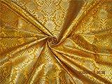TheFabricFactory Brokat-Seiden-Brokatstoff Mango Gelb x