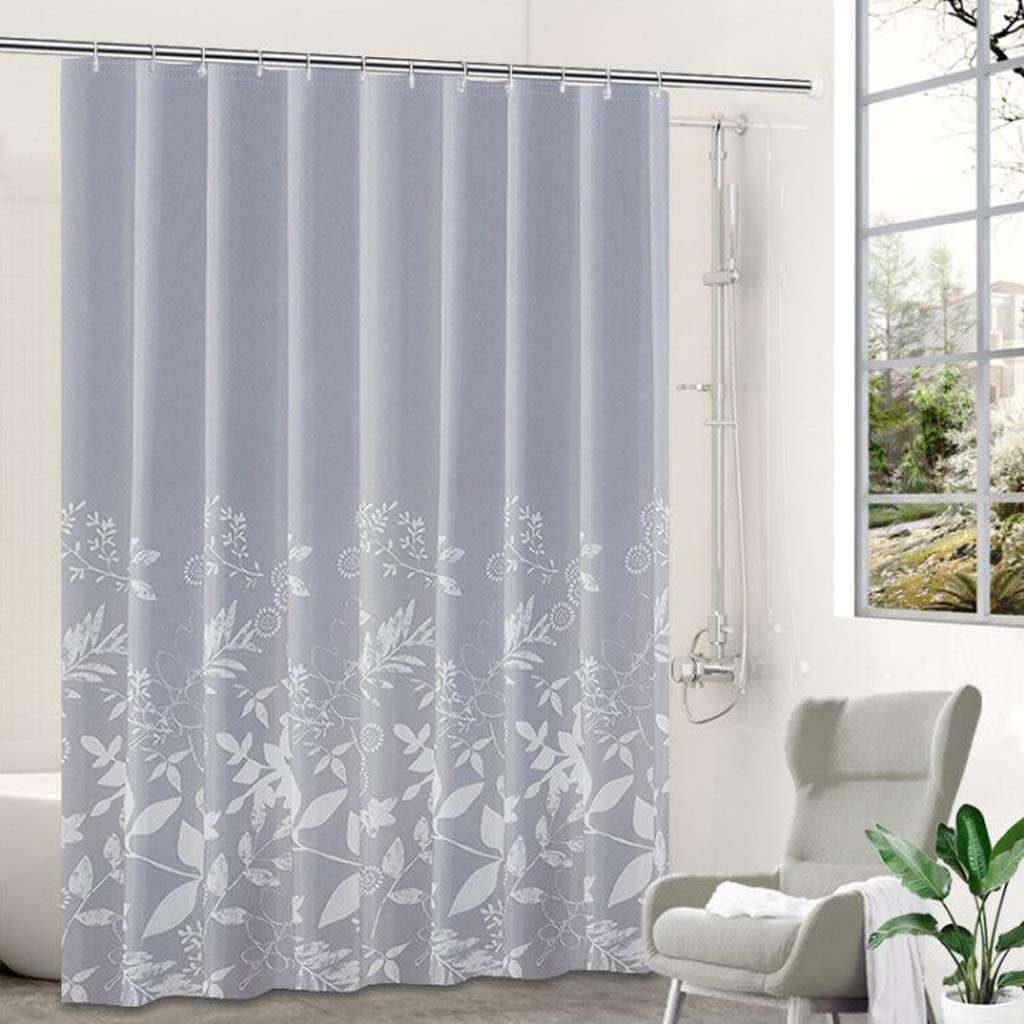 Max 82% OFF WUDAXIAN Shower Curtain lowest price with Waterproof C-Ring Rod Telescopic