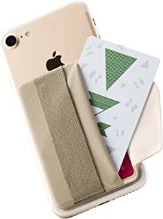 Sinjimoru Phone Grip Credit Card Holder with Flap, Secure Stick-On Wallet as Phone Finger Strap Adhesive ID Card Case for ...