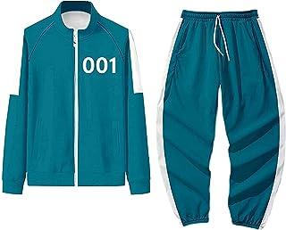 WATERSPA Squid Game Merch bluza z kapturem spodnie dwuczęściowy zestaw kalmary gra 456 067 001 dresy dresy zestaw bluza sp...