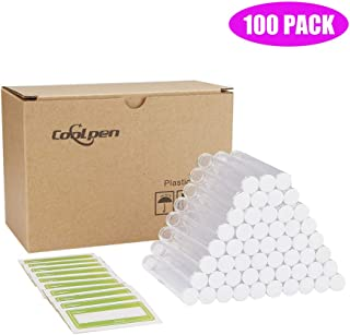 Coolpen Plastic Clear Tubes Oil Pen Tank Cartridges Packaging with Caps Transparent Pipe Craft Storage Bead Containers 13x82mm 0.5ml 1.0mL Carts