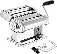 Pasta Maker, Elegant Life Sturdy Homemade 150mm Pasta Maker Machine All in one 7 Thickness Settings for Fresh Fettuccine S...