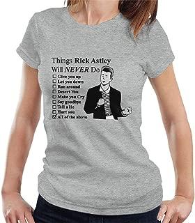 rick astley t shirt never gonna