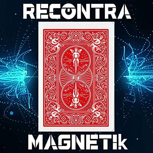 RecontraMago Magia - Magnetic Cards - Preparadas en Cartas Bicycle Originales - Trucos de Magia para niños y Adultos (MAGNETICA (con imán), Rojo)