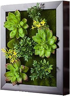 LIYONG Cadre d'usine Artificielle Suspendue pour la décoration Murale d'intérieur, Artificiel Floral Fleur Cadre Mural Sal...