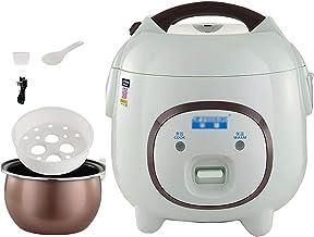 Rijstkoker (2L/400W) Huishoudelijke Non-Stick Rijstkoker, automatische warmtebehoud, met spatel en maatbeker, voor 2-3 per...