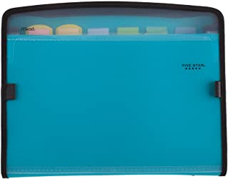 Five Star Expanding File, 7-Pocket Expandable Filing Folder, Zipper Closure, Customizable, Tabbed, Tabs, Teal (72506)