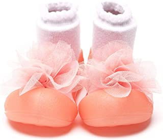 Attipas Corsage Baby Walker Shoes, Pink, Large