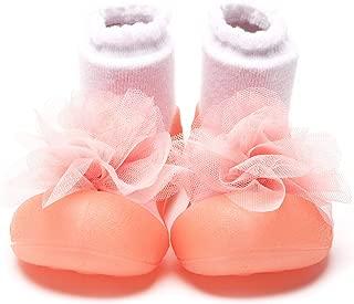Attipas [ アティパス ] ベビーシューズ/ 滑り止め 公園遊び 出産祝い プレゼント あんよの練習 保育園靴 かわいいソックスシューズ プレシューズ 室内外両用 女の子 男の子