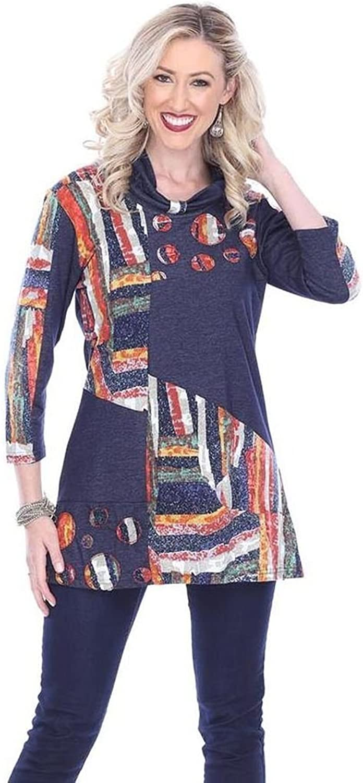 Parsley & Sage Women's Jenna Roll Neck Tunic Top