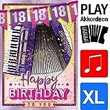 """bentino Geburtstagskarte XL mit AKKORDEON-Funktion! Mit der Grußkarte""""Happy Birthday"""" spielen"""