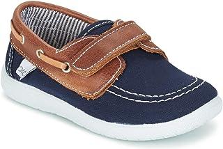 e0de3861fbca17 citrouille et compagnie GASCATO Mocassins & Chaussures Bateau Garcons  Marine/Marron Chaussures Bateau