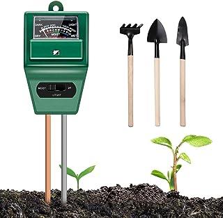 Soil Moisture Meter Plant Test - 3-in-1 Soil Test Kits Moisture/Light/pH Meter for Garden Farm Lawn Planting Hygrometer Mo...