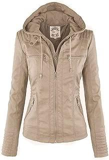 Heroic spirit Hooded Women Jacket Black Winter Motor Coat Slim Thick Zipper Casual Parka Overcoat PU Jacket Coats