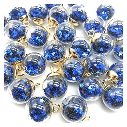 HETHYAN 10 colgantes de bola de cristal transparente de 16 mm, para hacer joyas, accesorios para el cabello, pendientes (color: 04, diámetro del artículo: (5 piezas)