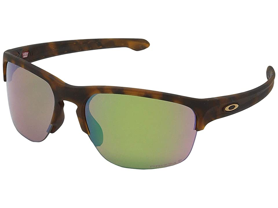 Oakley Sliver Edge (Matte Brown Tortoise w/ Prizm Shallow Water Polarized) Sport Sunglasses