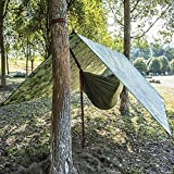 Fdit Tienda de campaña multifunción Impermeable Protección UV Protección Extra Resistente Toldo de Vela Solar para Exteriores (100 x 145 cm)