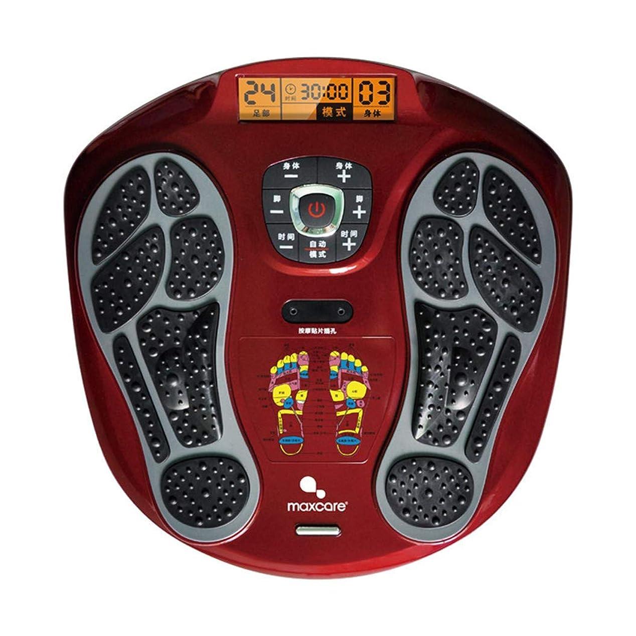 うなり声チェスをする風刺血液循環を促進するリモートコントロールフットマッサージャー、LEDディスプレイ画面、フットリラクゼーションのための熱を備えたマシン、15モードの疲労緩和。インテリジェント