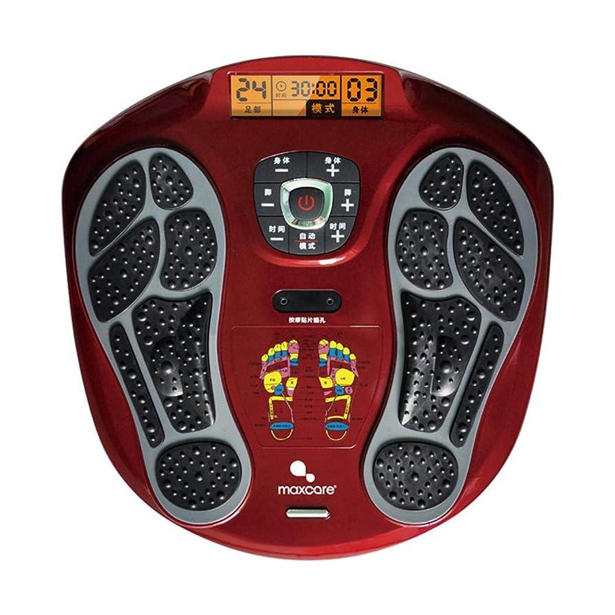 等々腹痛速い血液循環を促進するリモートコントロールフットマッサージャー、LEDディスプレイ画面、フットリラクゼーションのための熱を備えたマシン、15モードの疲労緩和。インテリジェント