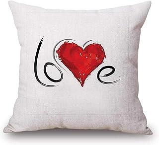 """Federa di Natale, Scpink Fodera per Cuscino di San Valentino Sweet Love Pattern 18 """"x18 Federe a Forma di Quadrato (C)"""
