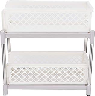 Étagère de Rangement pour armoires coulissantes à 2 Couches, Organisateur d'armoires sous évier avec tiroir de Rangement C...
