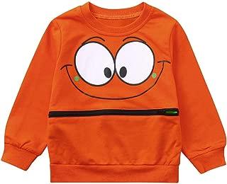 ❤Baby Girls Boys Long Sleeve Cartoon Eyes Soft Toddler Kids Tops Shirt Clothes 1-5T