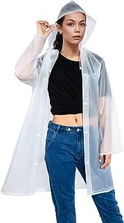MEOKEY EVA Raincoat for Adults Portable Waterproof Long Clear Rain Coat Poncho with Hood