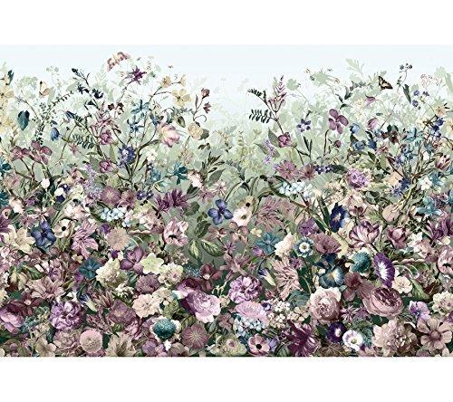 Komar XXL4-035 368 x 248 cm Botanica Flourishing Botanical Garden Wallpaper Mural - Purple (Pack of 4) by Komar