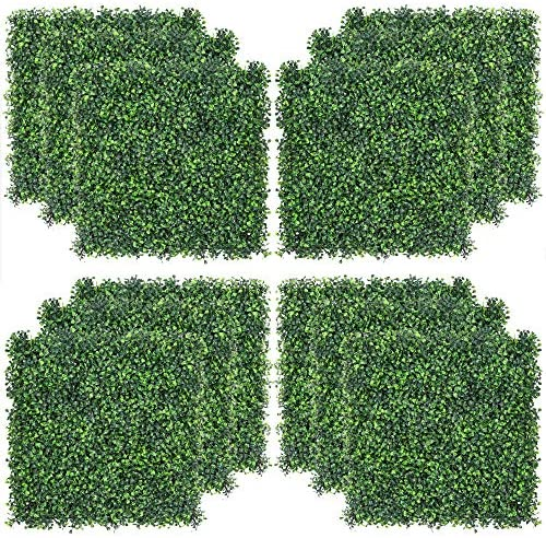Sunnyglade 12PCS 20x20inch Artificial Boxwood Panels Topiary Hedge Plant Privacy Hedge Screen product image