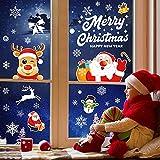 Pegatinas Navidad Ventanas, Telgoner 171 Decoración Navidad para Ventana Puerta, Reutilizable Decoracion navideña, Adornos de Navidad para la Casa Escaparates, PVC Pegatina Copos de Nieve