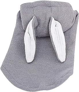 Fulision Soft Warm Dog Pajama Coats for Puppies Cute Rabbit Ear Cats Clothes Pet Clothes
