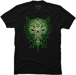 Design By Humans Celtic Wolf Men's Graphic T Shirt
