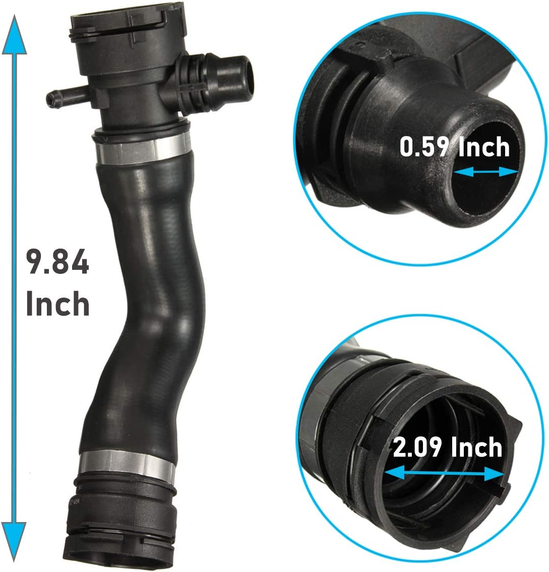 -Replace for 17127531579 Jaronx for BMW Engine Upper Radiator Coolant Water Hose Pipe,from Engine to Radiator for BMW 1 Series E82//E87//E88,3 Series E90//E91//E92//E93,X1 E84,Z4 E89 N51//N52//N52N//N53