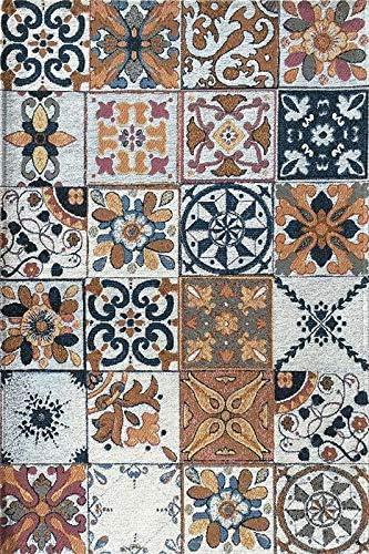 Deco Italia Tappeto Maioliche Azulejos Classic Con Fondo Antiscivolo Ideale Per Cucina E Bagno 60 X 240 Cm Amazon It Casa E Cucina