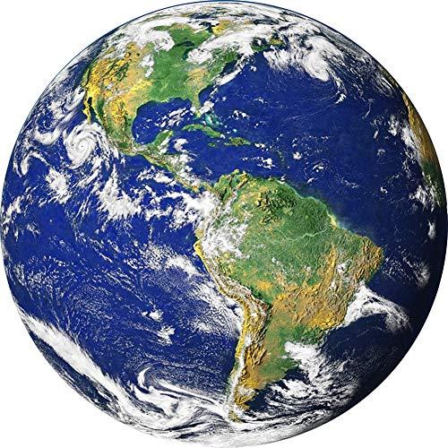 frenma Alfombra de área, tapete para Silla, Modelo de Tierra, cojín para Silla giratoria,(60cm in Diameter)